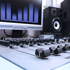 Picture of studio mixing desk
